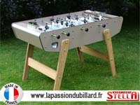 babyfoot pour le jardin Stella Outdoor taupe visserie inox