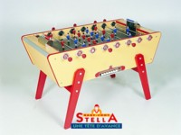 Baby foot Stella Bonzini B90 Champion Star Home Club: baby foot stella champion jaune pour particulier ou collectivité.