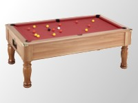 Billard 8 pool monarch ascot tapis rouge teinté chataignier.