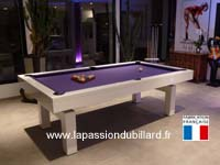 billard table lafuge: Billard Design Arcade laque blanc livre pres de Lille.