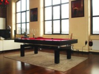 billard table: Billard laqué noir Arcade design