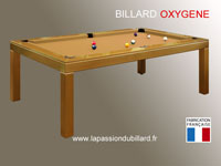 Billard transformable en table design Oxygene laque dore tapis gold