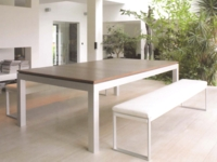 billard transformable en table: Billard Fusion Table Aramith aluminium cerisier banc blanc