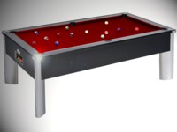 billard pas cher: Billard moderne fusion monarch tapis bordeau