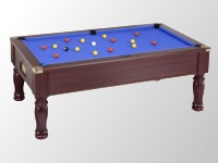 Billard table premier prix supreme dpt superleague: billard anglais monarch tapis bleu teinte acajou