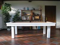 Billard americain transformable en table modele Loft blanchi Valenciennes