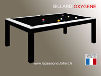 billard de salon et de style: Billard contemporain table bi-ton Oxygene noir et blanc
