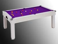 billard windsor table blanc tapis violet