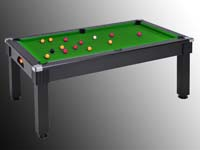 billard pool anglais transformable en table windsor noir tapis vert