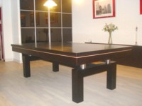 billard table lafuge: Billard table contemporain Arcade americain francais chene teinte ebene