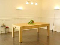 Billard table contemporain Eos pieds carres chene naturel avec plateau table.