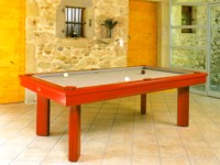 billard table: Billard  Elégance transformable en billard français ligne moderne kotibé massif rouge