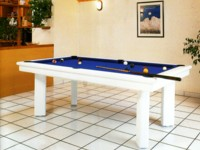 Billard laque blanc pool americain Elegance contemporain