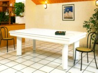 Billard laque blanc Elegance contemporain avec plateau table
