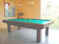 billard table lafuge: Billard Le Competition americain 2m60 teinte acajou transformable en francais