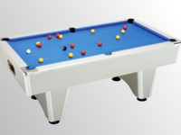 billard pas cher: billard domestic pool country  sans monnayeur aluminium tapis bleu