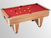 billard premier prix: billard domestic pool country  sans monnayeur chataignier tapis bordeau