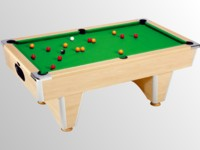 billard 8 pool anglais, américain: billard domestic pool country  sans monnayeur hêtre tapis vert