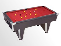 billard premier prix: billard domestic pool country  pour particulier noir tapis bordeau