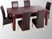 billard pas cher: Billard pool anglais Majestic acajou plateau table transformable