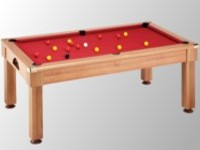 billard table: billard pool pieds droits Windsor chêne claire tapis bordeau