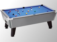 billard de salon: Billard pool winners carbone tapis bleu sans monnayeur