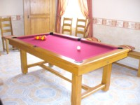 billard table lafuge: billard Rustic 3 en 1 francais americain table de ferme chene livre en Flandres