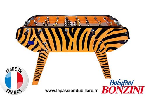 Photo et descriptif: La Passion du Billard Baby foot b90 bonzini Tigre.
