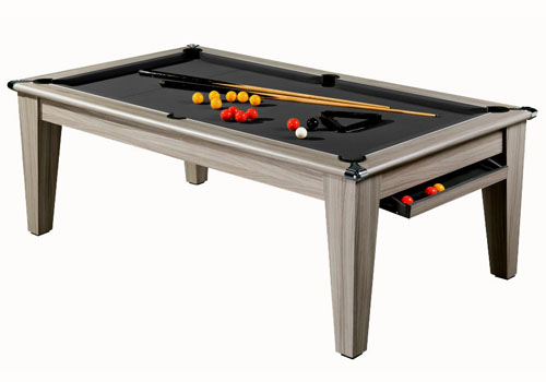 Photo et descriptif: Billard table york ligne tendance tapis noir laine