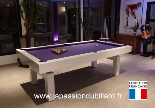 Photo et descriptif: Billard Design Arcade laque blanc livre pres de Lille.