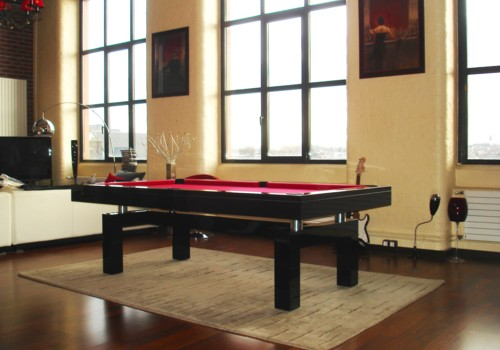 Photo et descriptif: Billard laque noir Arcade design region de Liege