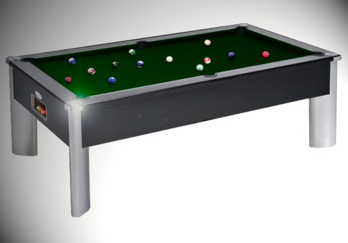 Photo et descriptif: Billard pool Anglais monarch fusion tapis vert laine