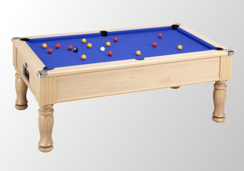 Photo et descriptif: Billard anglais dpt monarch dimension 6 ft teinte peche tapis de billard bleu
