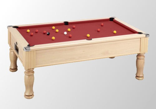 Photo et descriptif: Billard pool monarch 6ft colori peche tapis rouge