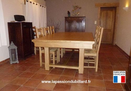 billard francais billard table rustique en chene naturel verni mat avec chaises livre en belgique. Black Bedroom Furniture Sets. Home Design Ideas