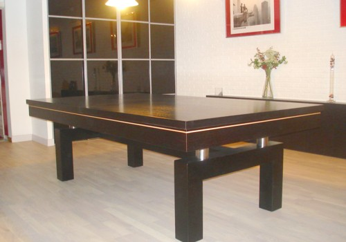 Photo et descriptif: Billard table contemporain Arcade americain francais chene teinte ebene