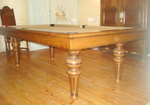 Billard table billard louis philippe chene massif transformable table franc - Billard transformable en table ...