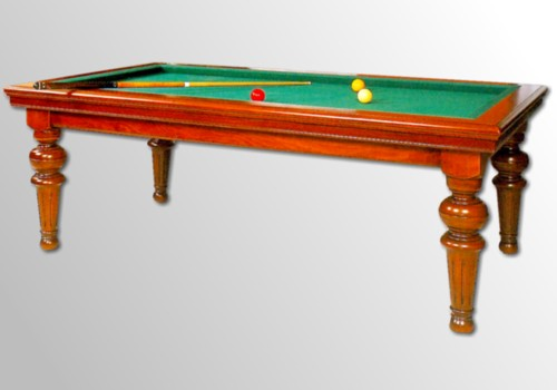 Photo et descriptif: Billard Louis Philippe kotibe massif merisier transformable table, francais, tapis vert