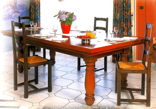 Photo et descriptif: Billard Manoir kotibe massif merisier transformable table americain carambole