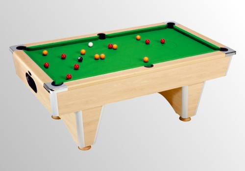 Photo et descriptif: billard domestic pool country  sans monnayeur hêtre tapis vert