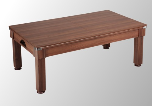 Photo et descriptif: billard pool moderne Windsor chêne foncé plateau table transformable