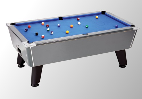 Photo et descriptif: Billard pool winners carbone tapis bleu sans monnayeur